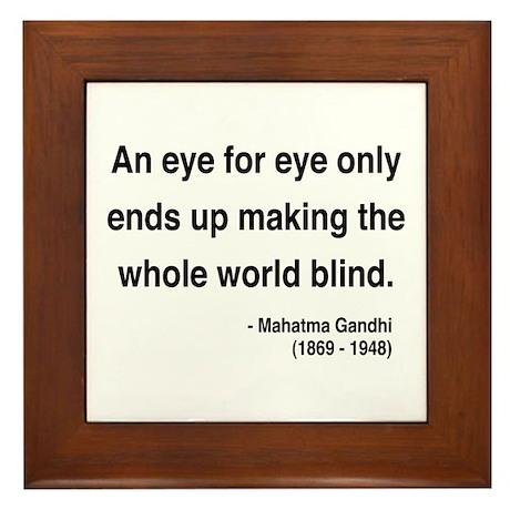 Gandhi 3 Framed Tile