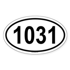 1031 Oval Decal