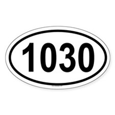 1030 Oval Decal