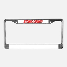 """Atomic County"" License Plate Frame"