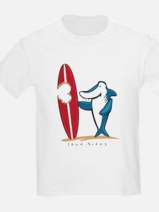 Love Bites Surfing Valentine T-Shirt
