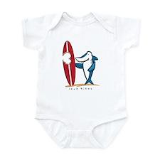 Love Bites Surfing Valentine Infant Bodysuit