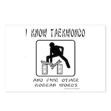I KNOW TAEKWONDO Postcards (Package of 8)
