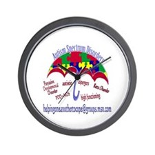 AUTISM Spectrum Umbrella Wall Clock