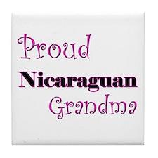 Proud Nicaraguan Grandma Tile Coaster