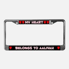 My Heart: Aaliyah (#002) License Plate Frame