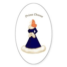 Redhead Prima Donna in Midnight Blue Robe Decal