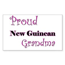 Proud New Guinean Grandma Rectangle Decal