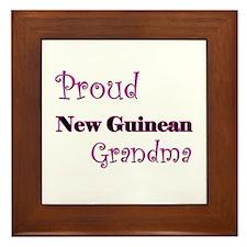 Proud New Guinean Grandma Framed Tile