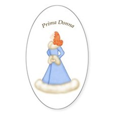 Redhead Prima Donna in Bably Blue Robe Decal