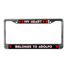 My Heart: Adolfo (#002) License Plate Frame