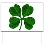 Lucky Four Leaf Clover Yard Sign