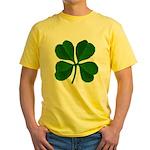 Lucky Four Leaf Clover Yellow T-Shirt