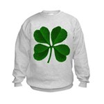 Lucky Four Leaf Clover Kids Sweatshirt