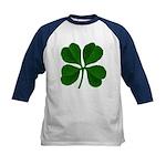 Lucky Four Leaf Clover Kids Baseball Jersey