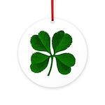Lucky Four Leaf Clover Ornament (Round)