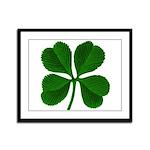 Lucky Four Leaf Clover Framed Panel Print