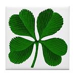 Lucky Four Leaf Clover Tile Coaster