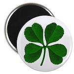 "Lucky Four Leaf Clover 2.25"" Magnet (100 pack)"