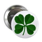 "Lucky Four Leaf Clover 2.25"" Button (100 pack)"
