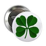 "Lucky Four Leaf Clover 2.25"" Button (10 pack)"