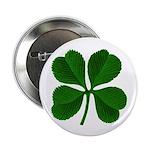 """Lucky Four Leaf Clover 2.25"""" Button"""