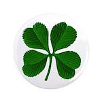 """Lucky Four Leaf Clover 3.5"""" Button"""