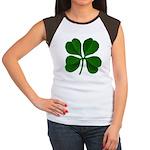 Lucky Four Leaf Clover Women's Cap Sleeve T-Shirt