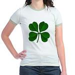 Lucky Four Leaf Clover Jr. Ringer T-Shirt