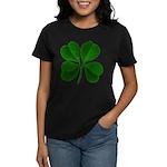 Lucky Four Leaf Clover Women's Dark T-Shirt