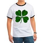 Lucky Four Leaf Clover Ringer T