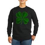 Lucky Four Leaf Clover Long Sleeve Dark T-Shirt