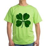 Lucky Four Leaf Clover Green T-Shirt