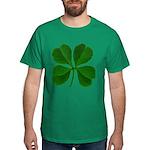 Lucky Four Leaf Clover Dark T-Shirt