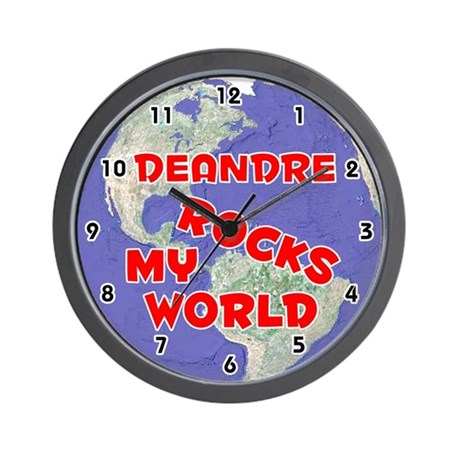 Deandre Rocks My World (Red) Wall Clock