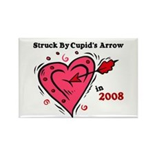Struck By Cupid's Arrow 1 (2008) Rectangle Magnet