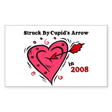 Struck By Cupid's Arrow 1 (2008) Sticker (Rectangu