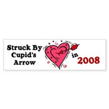 Struck By Cupid's Arrow 1 (2008) Bumper Bumper Sticker