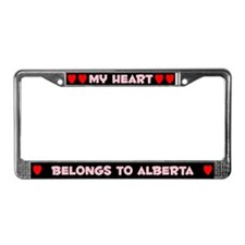 My Heart: Alberta (#002) License Plate Frame