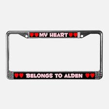 My Heart: Alden (#002) License Plate Frame