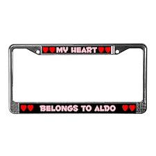 My Heart: Aldo (#002) License Plate Frame