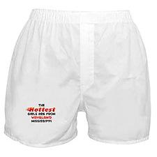 Hot Girls: Waveland, MS Boxer Shorts