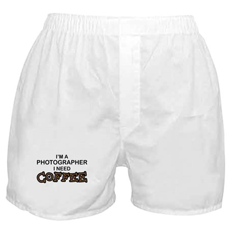 Photographer Need Coffee Boxer Shorts