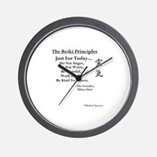 """Reiki Principles"" Wall Clock"