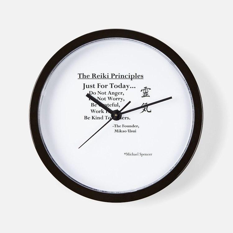 """""""Reiki Principles"""" Wall Clock"""