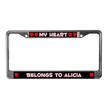 My Heart: Alicia (#002) License Plate Frame