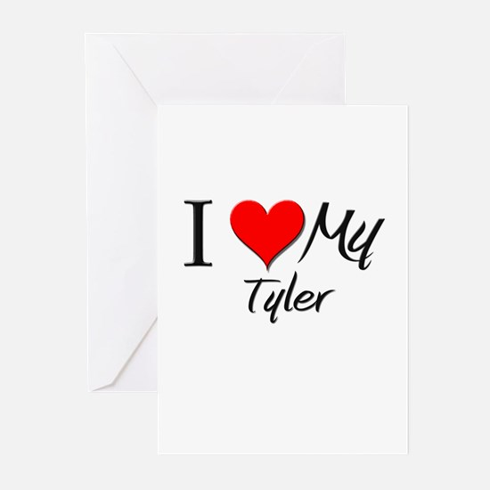 I Heart My Tyler Greeting Cards (Pk of 10)