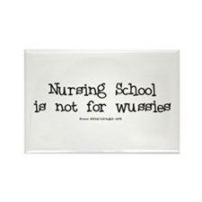 Nursing not for Wussies Rectangle Magnet