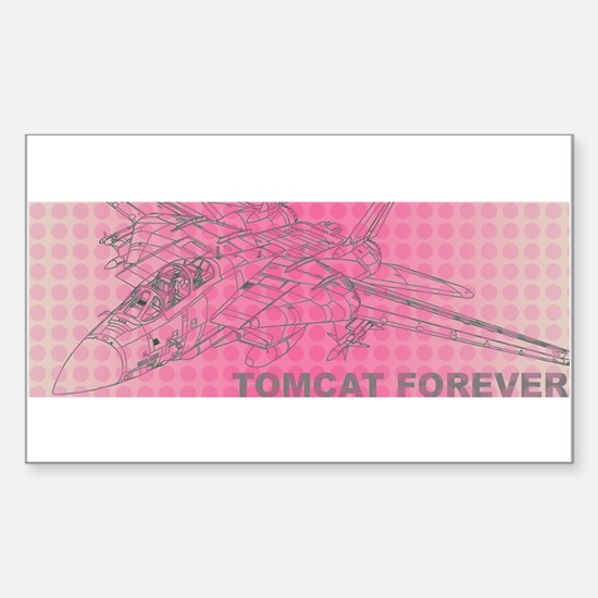 Tomcat Forever Rectangle Decal