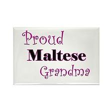 Proud Maltese Grandma Rectangle Magnet